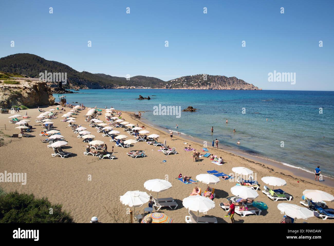 Playa Es Figueral, Ibiza Photo Stock
