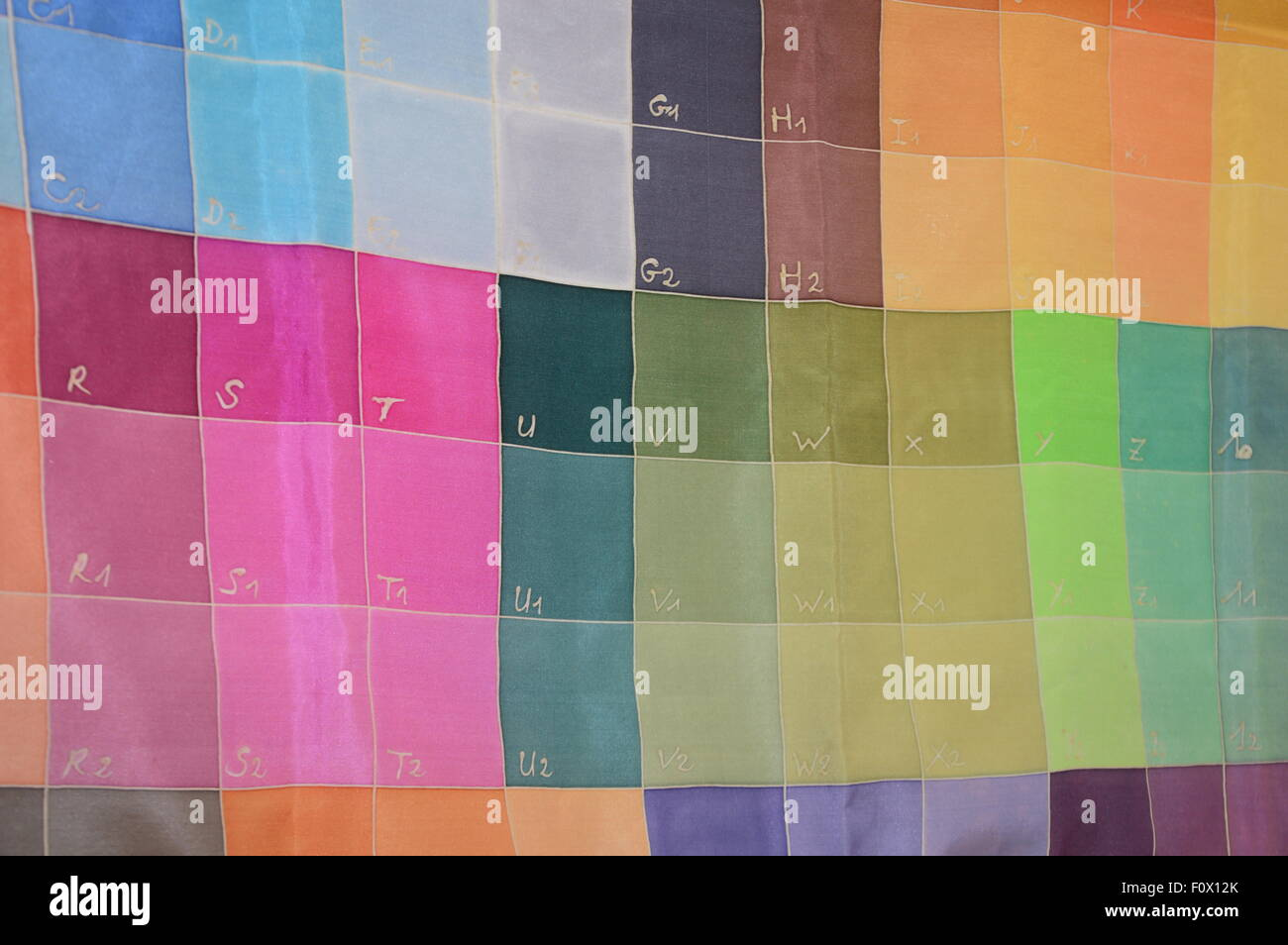Un conseil couleur pour but artistique Photo Stock