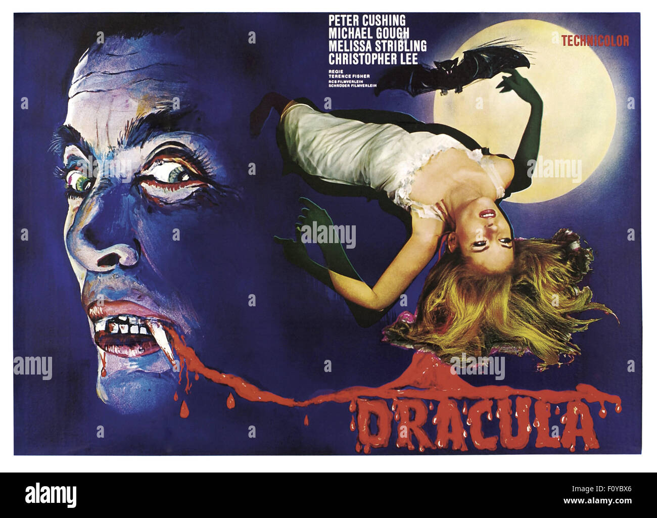 L'horreur de Dracula - 20 - l'affiche de film Photo Stock