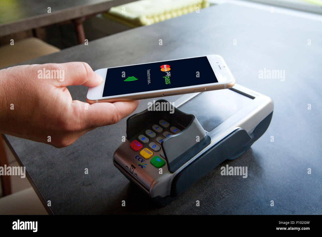 Paiement sans contact Photo Stock