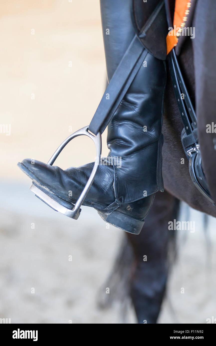 L'équitation les orteils se tourna vers loin Photo Stock