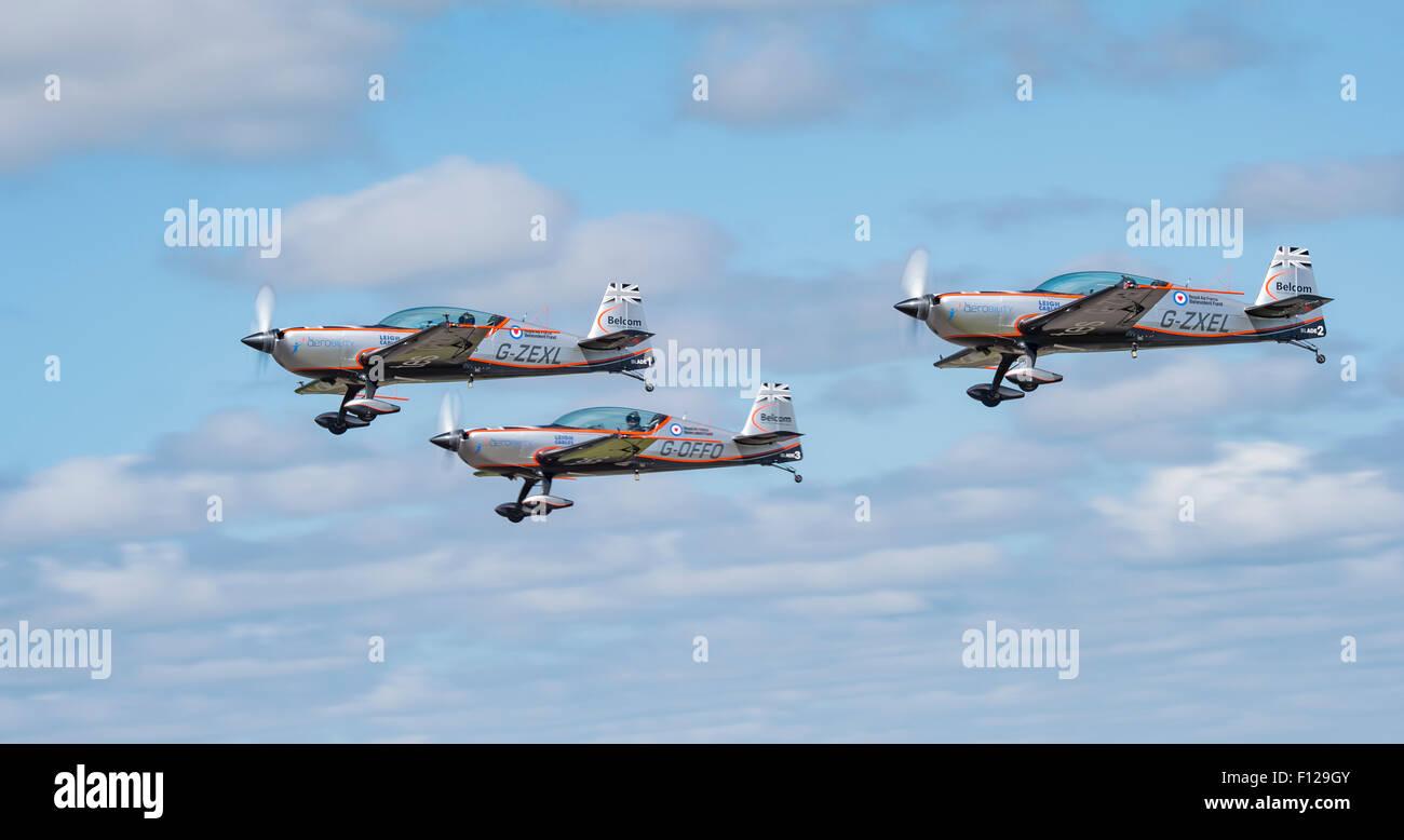 L'équipe de voltige des lames au RNAS Culdrose AirDay Photo Stock