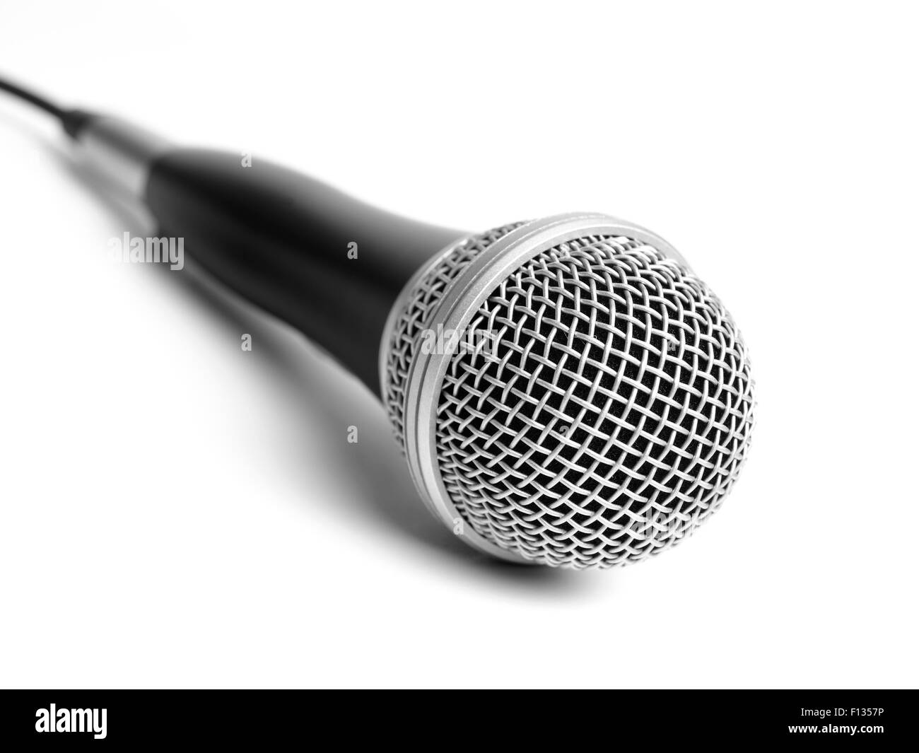 Microphone isolated on white Photo Stock