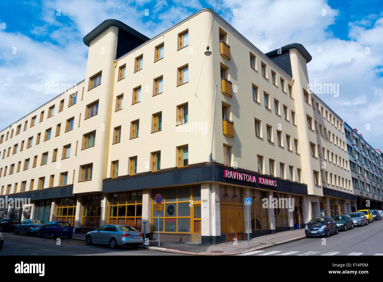 L'architecture fonctionnaliste des années 1930, Eerinkinkatu, Hietalahti, Helsinki, Finlande, Europe Banque D'Images