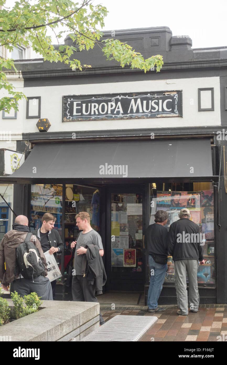 Musique Europa - le plus grand magasin de disques vinyle et de record shop en Ecosse - Stirling, Scotland, UK Photo Stock