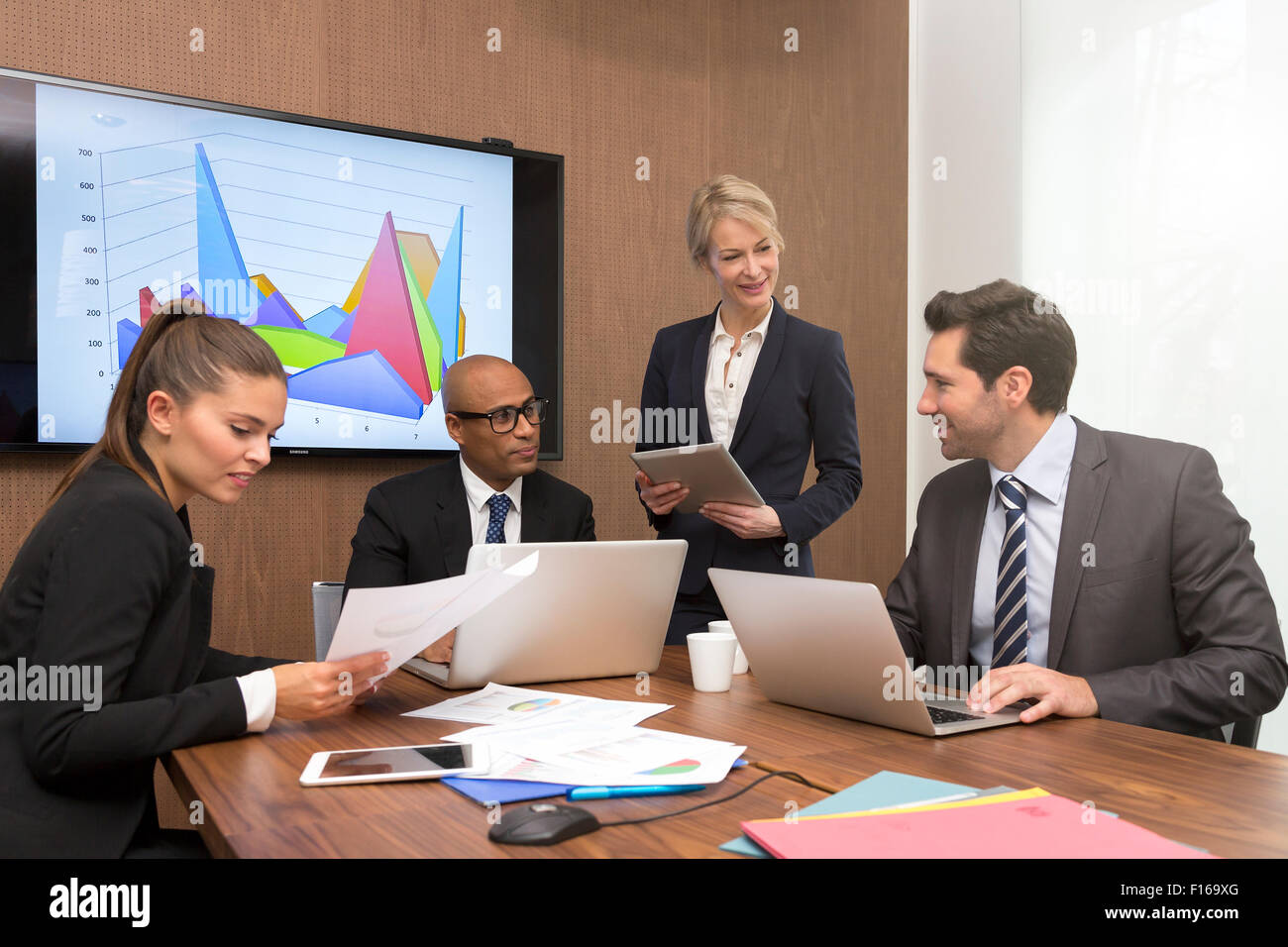 Les gens d'affaires réunion Photo Stock