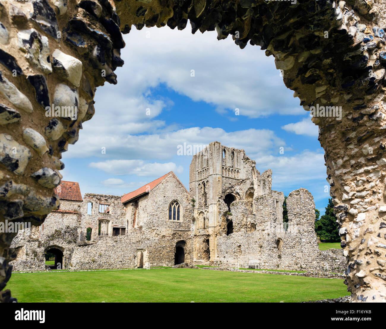 Les ruines du château d'Acre prieuré à la recherche vers l'avant, de l'hébergement Photo Stock