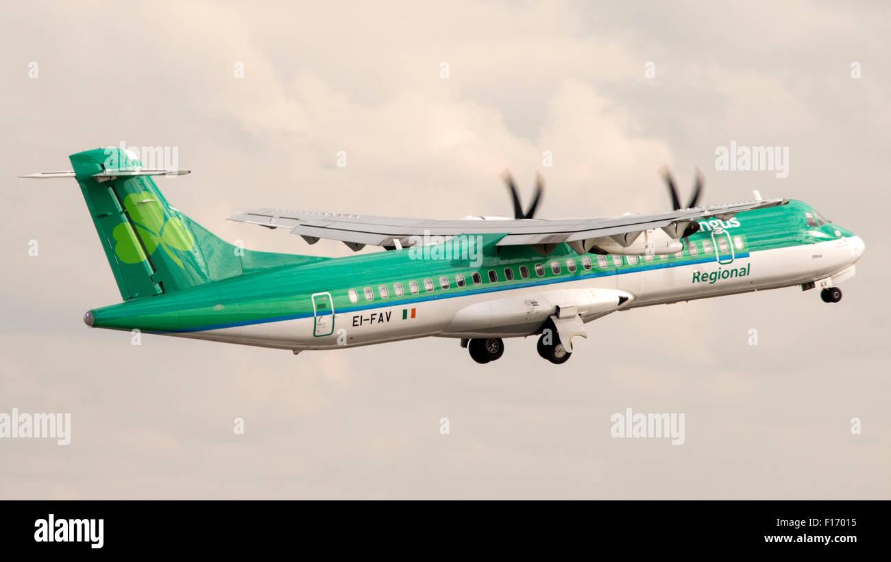4 modes d'enregistrement CAADA EI-FAV code Type Type ATR 72-600 à76 S/N 1105 Compagnie aérienne Aer Photo Stock
