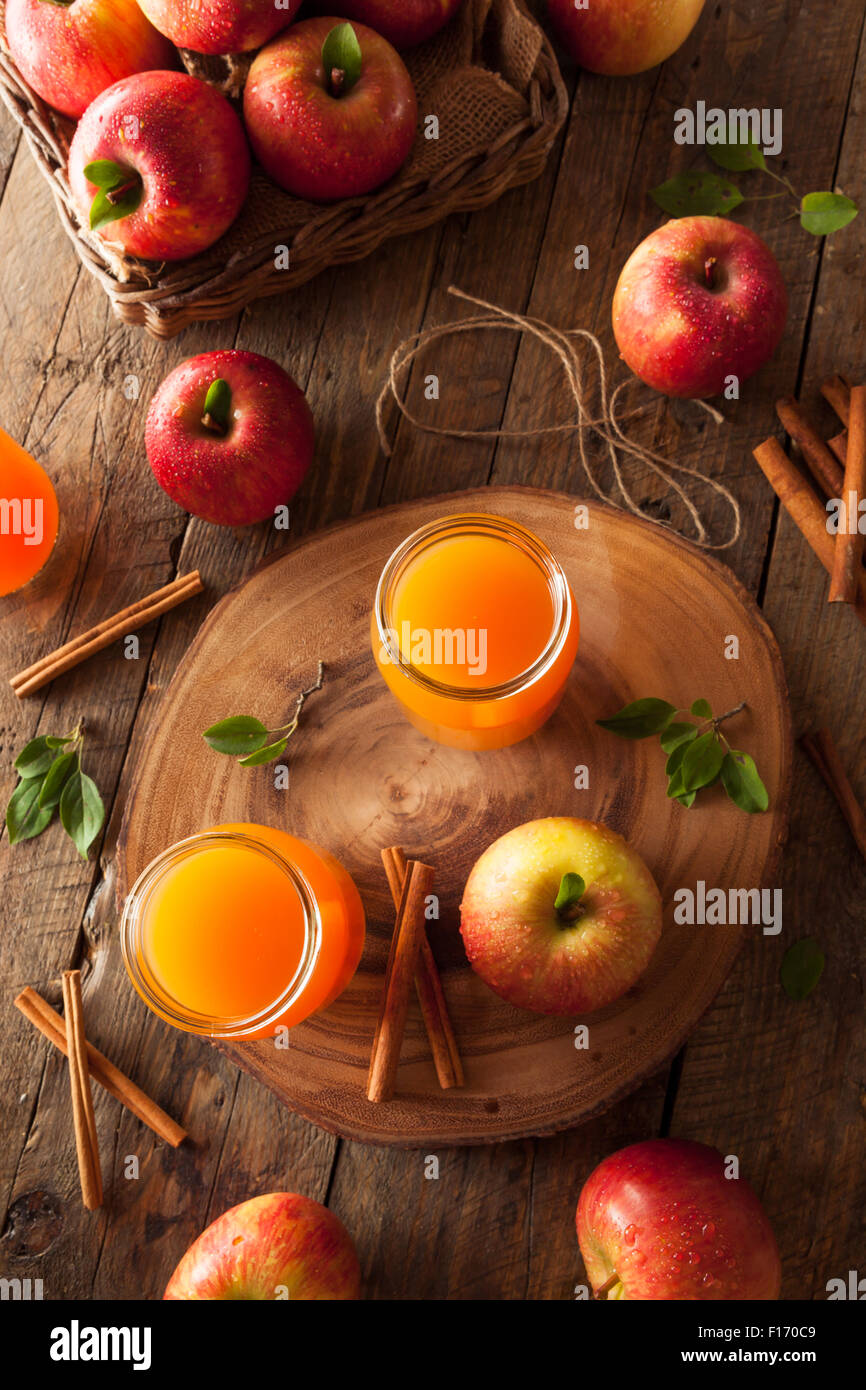 Cidre de pomme d'Orange à la cannelle et d'Épices Photo Stock