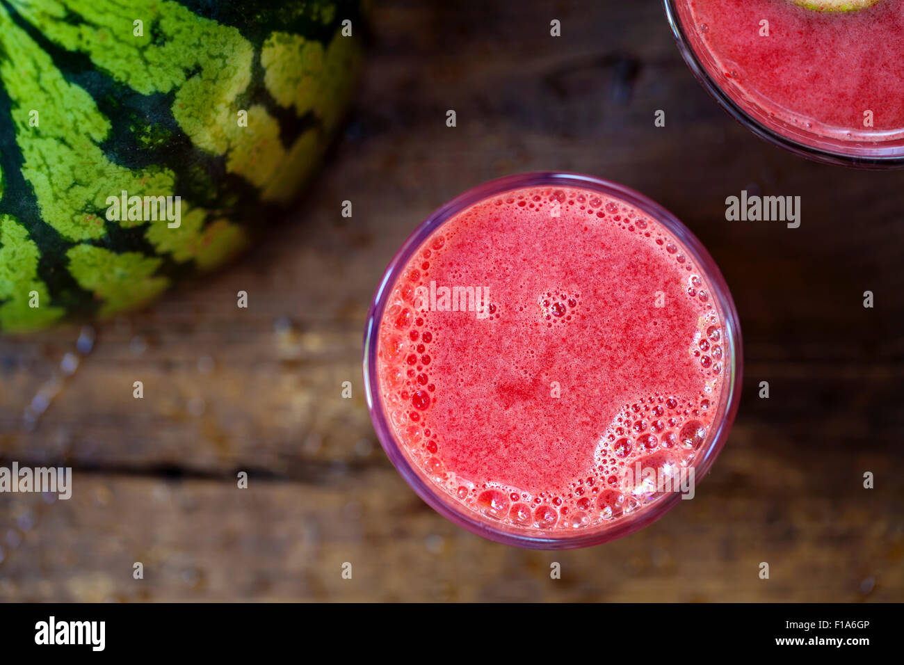 Le jus de pastèque Photo Stock