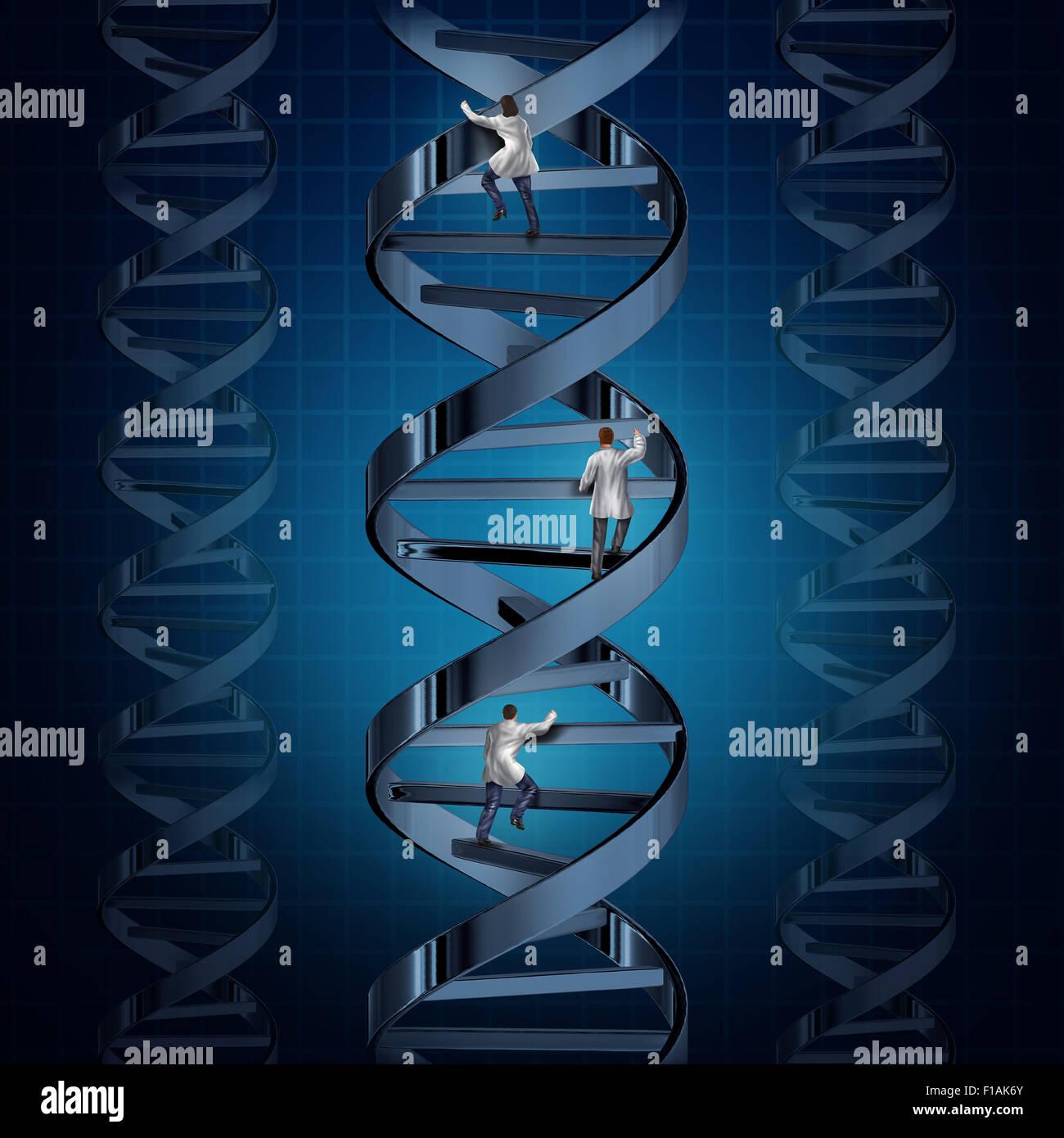 Génome de la recherche médicale et de la technologie génétiques découvertes avec un groupe Photo Stock