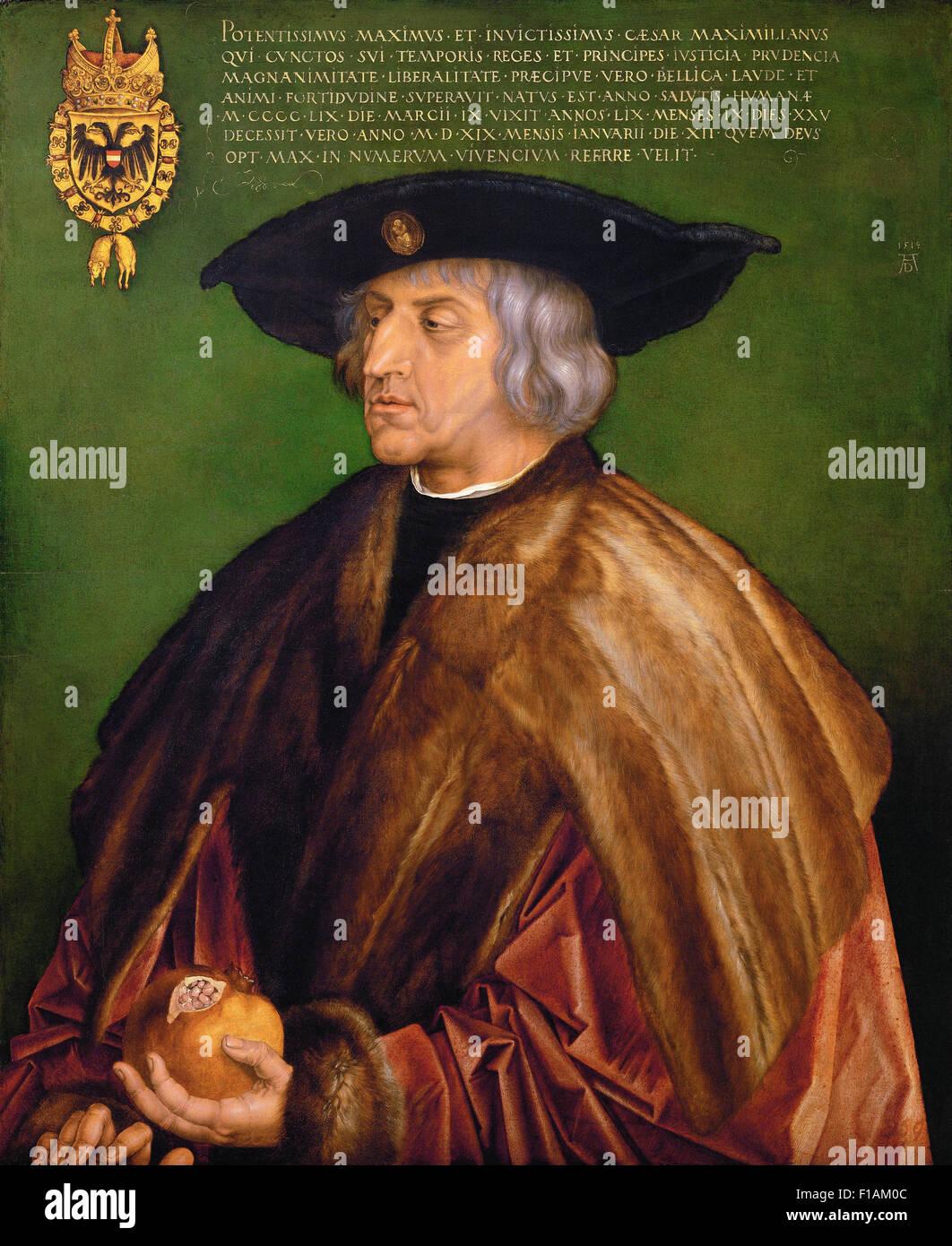 Albrecht Dürer - Portrait de Maximilien I Photo Stock