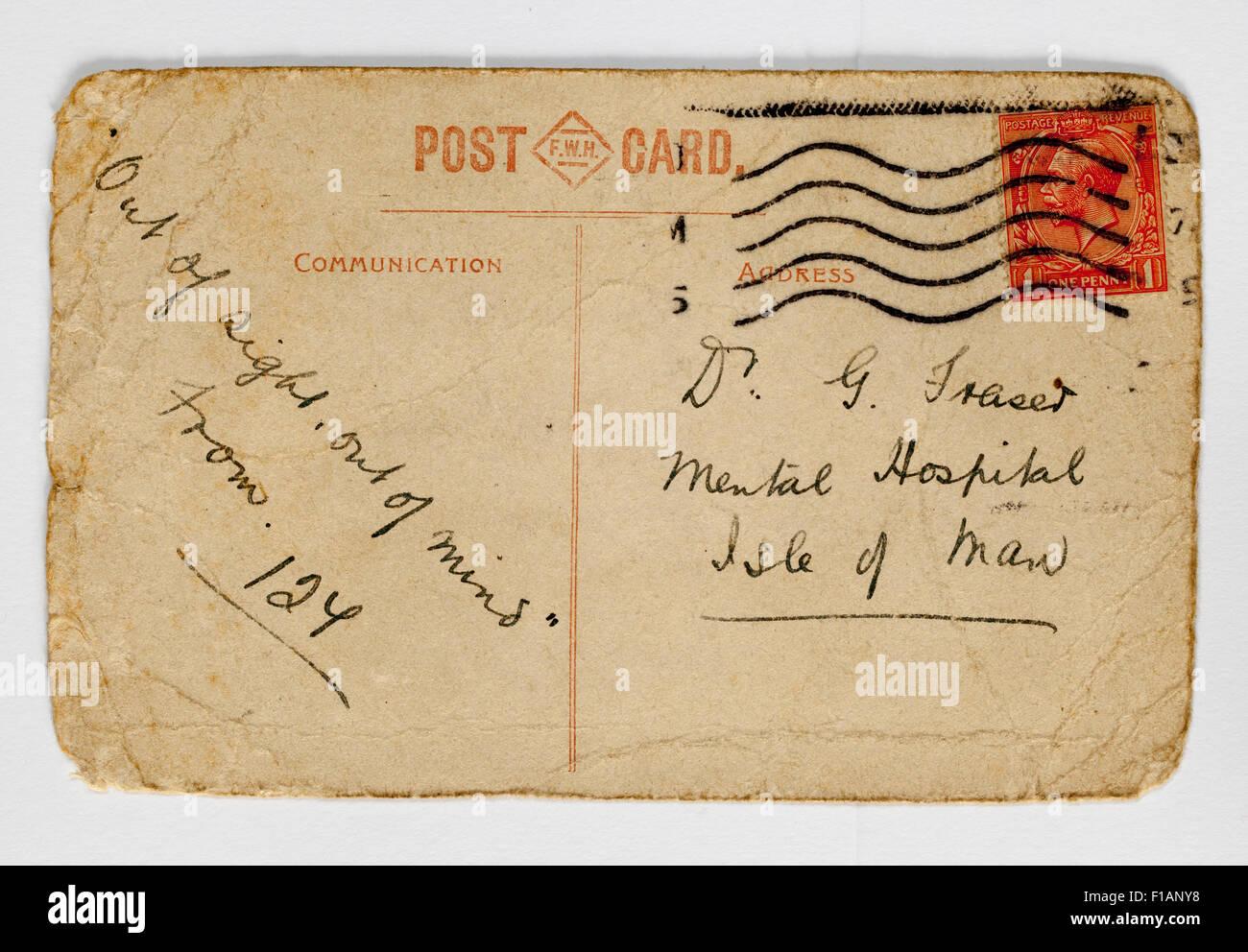 Mobilier Vintage Années 1930 Carte postale Photo Stock