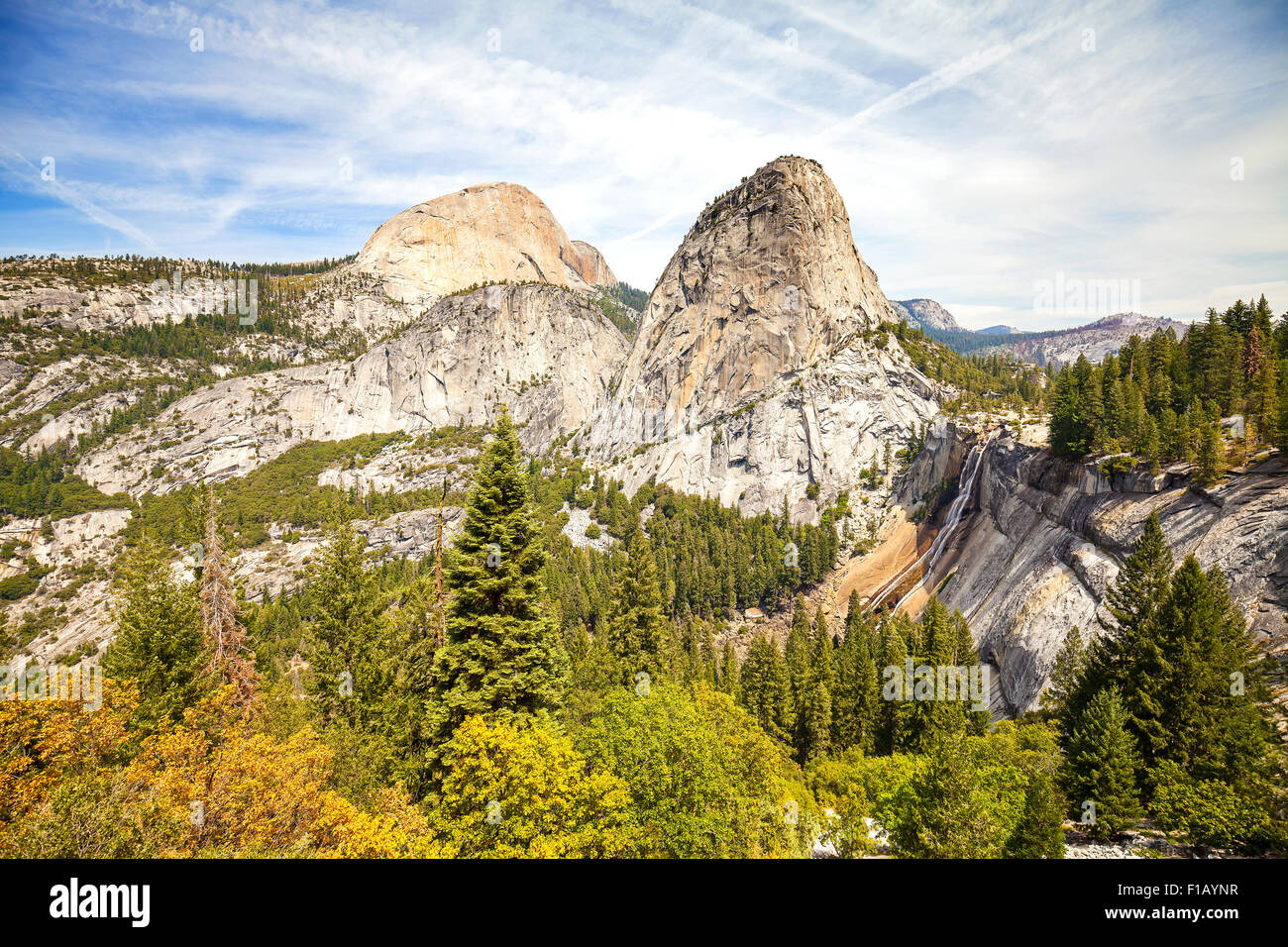 Nevada fall in Yosemite National Park, California, USA. Photo Stock