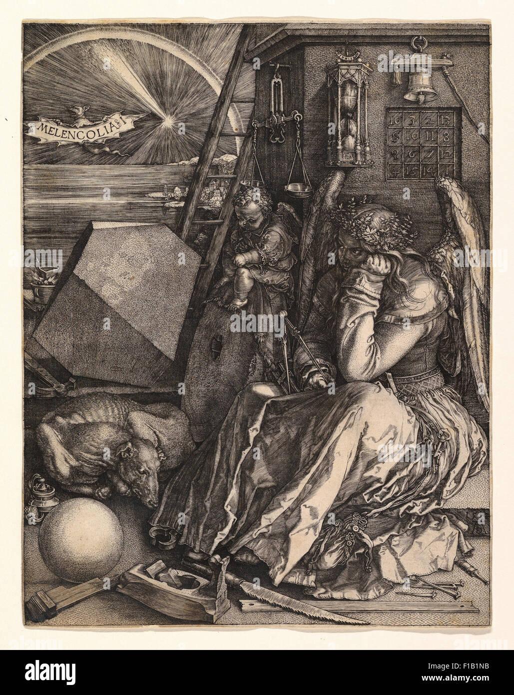 Albrecht Dürer - Melencolia I Photo Stock