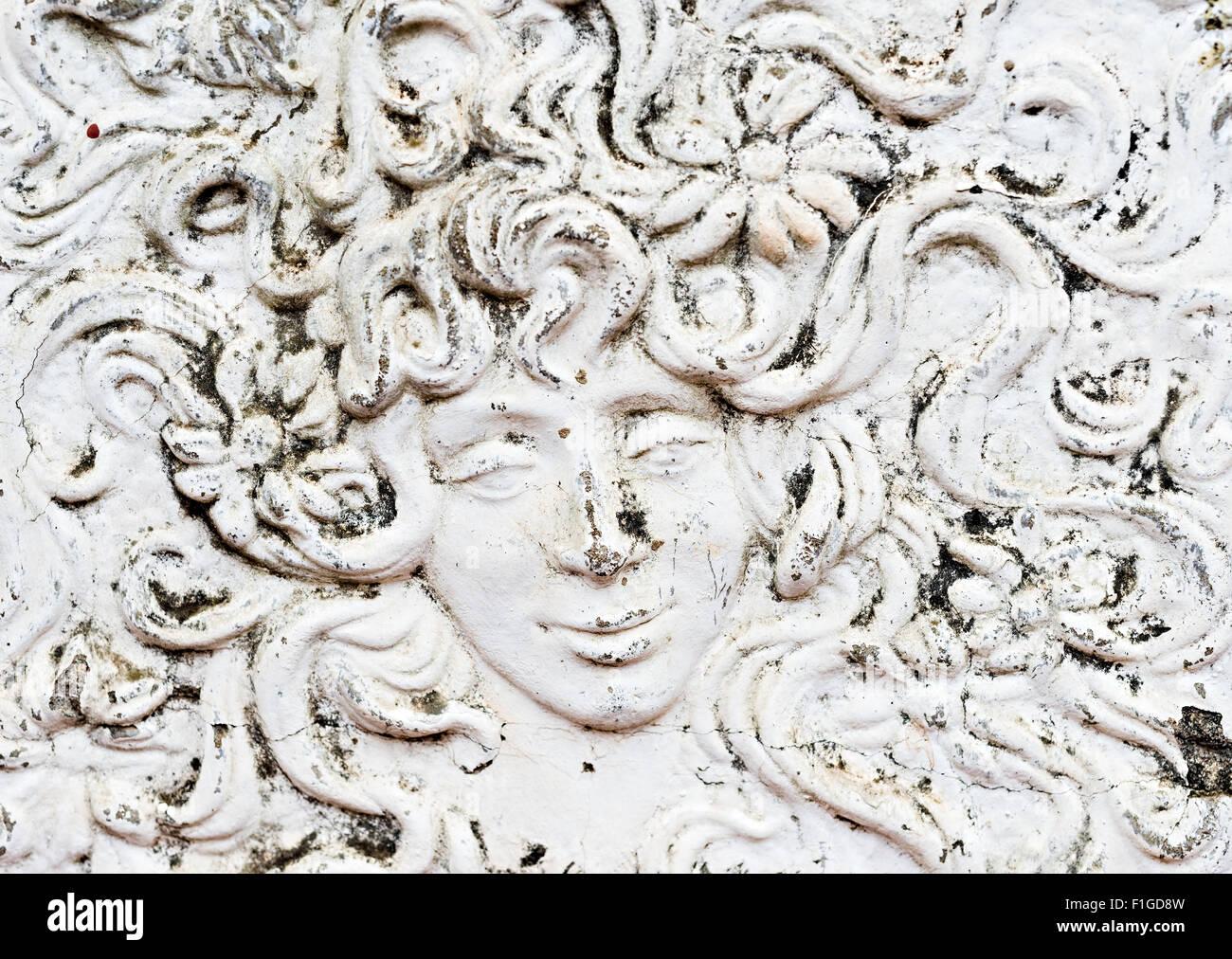 Relief En Plâtre Peinture Murale De L Homme Ou De Visage De