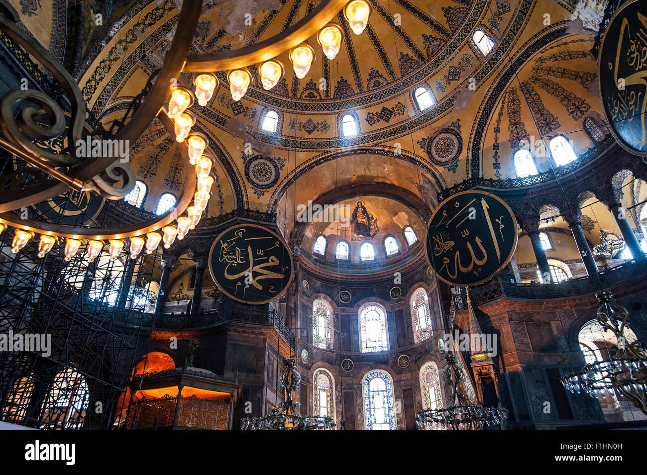 Turquie, Istanbul: la basilique Sainte-Sophie est l'un des faits saillants historique d'Istanbul à Sultanahmet, Banque D'Images