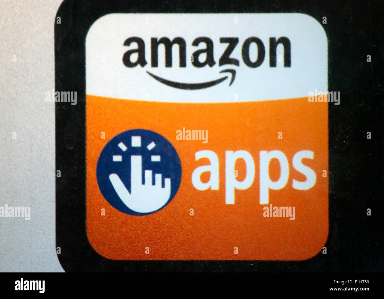Markennamen: 'Amazon', 'Amazon Apps', Berlin. Photo Stock