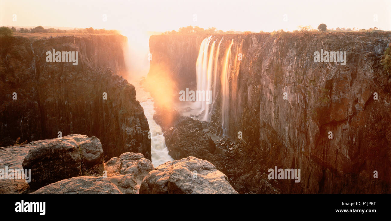 Victoria Falls Zimbabwe Zambèze, l'Afrique Photo Stock