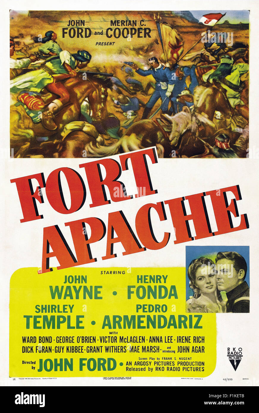 001 - Fort Apache affiche de film Photo Stock