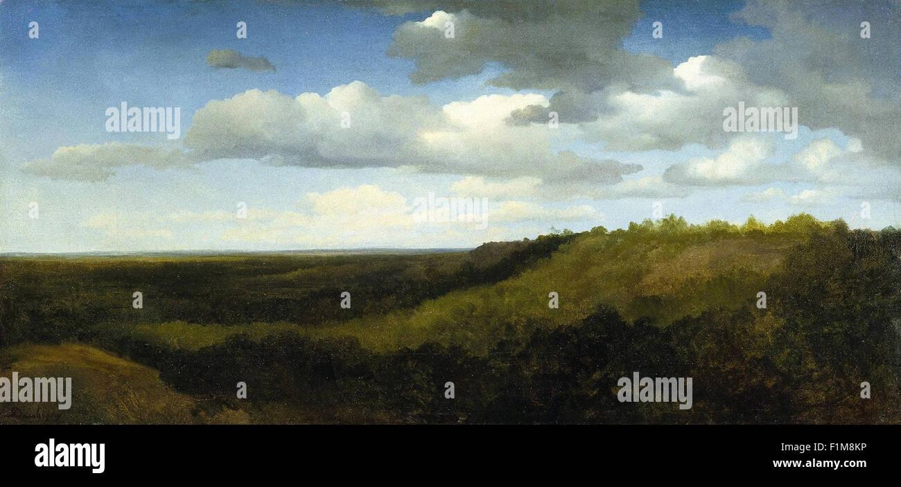 Charles-François Daubigny - Paysage dans le Roman Campagna Photo Stock