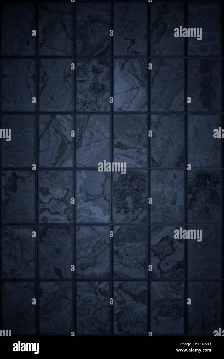 Grunge fond avec un sol carrelé en damier Photo Stock