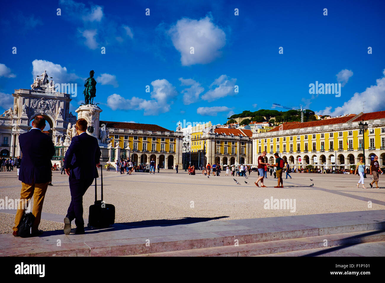 Portugal, Lisbonne, Praca do Comercio, ou Place du Commerce. Il est également connu sous le nom de Terreiro Photo Stock
