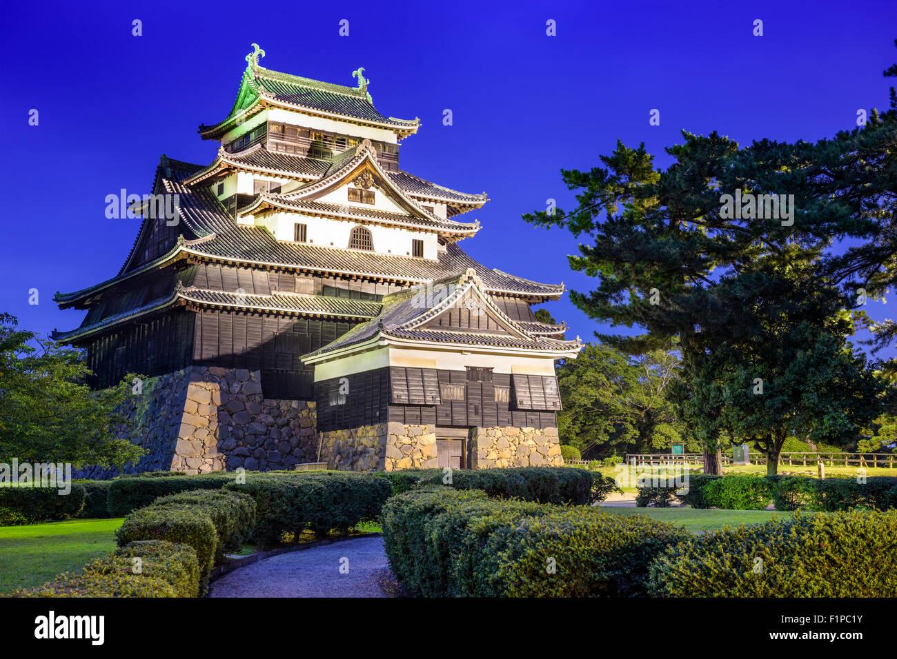 Matsue, Japon au château. Le château est l'un des rares château d'origine conserve dans le Photo Stock