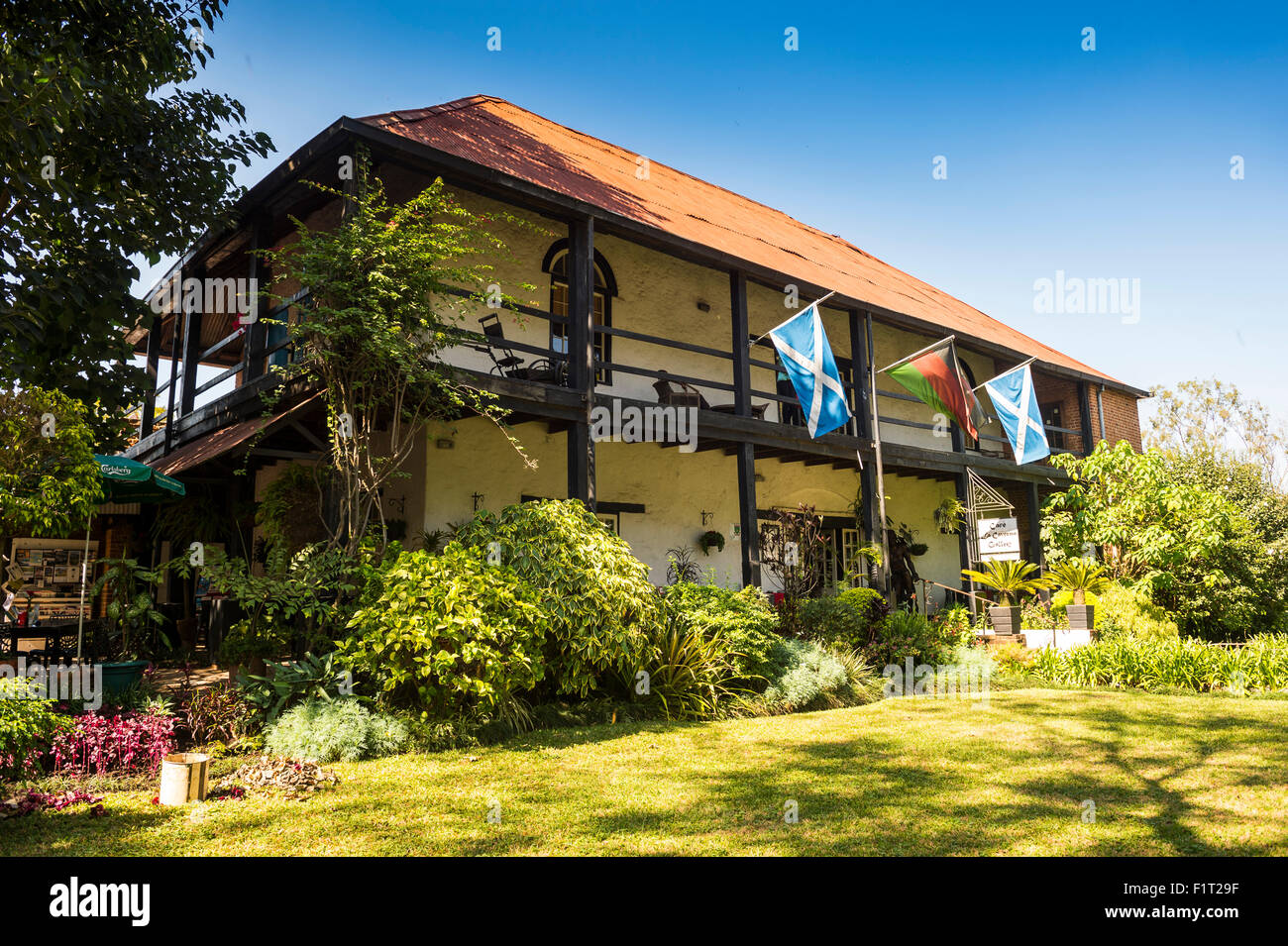 Historique La Maison de Mandala, Blantyre, Malawi, Afrique Banque D'Images