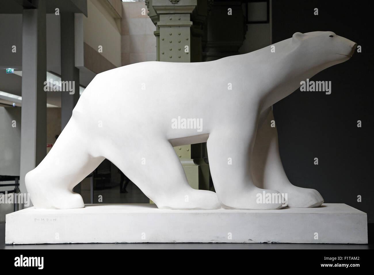 L'ours polaire Ours blanc par François Pompon 1855-1933 Photo Stock