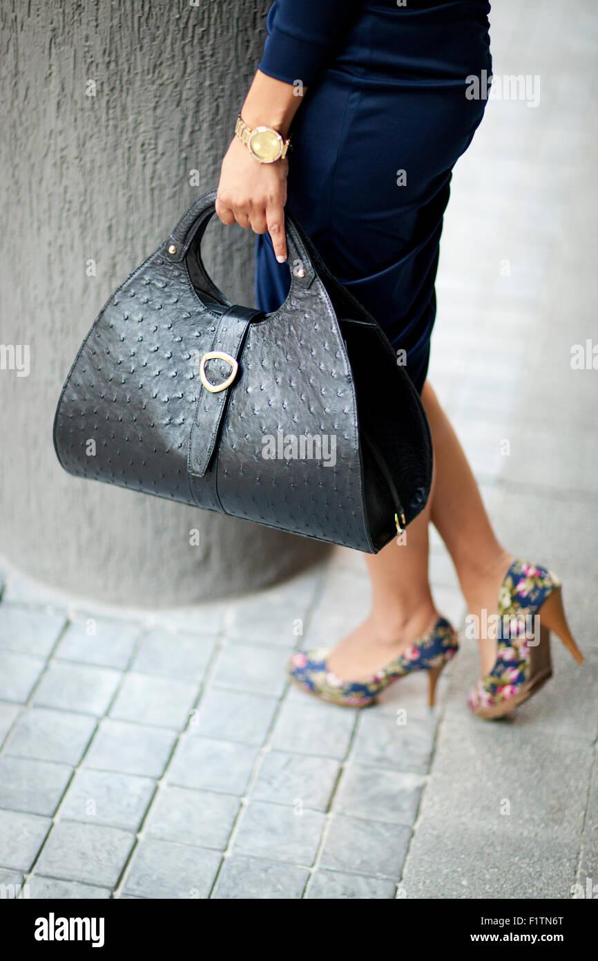 23c1ce5d40ab Black Leather Bag Photos   Black Leather Bag Images - Alamy