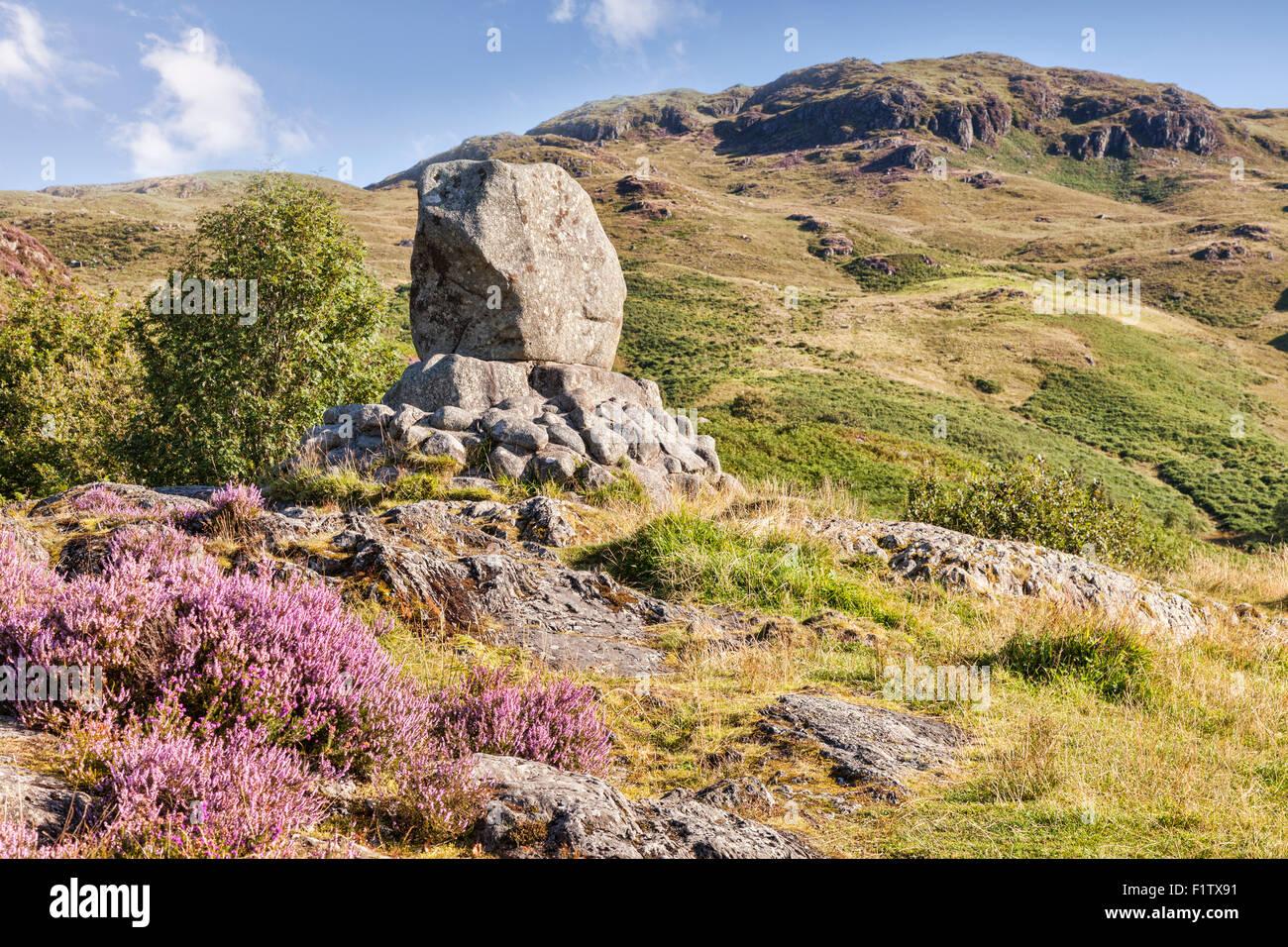 La Bruce Memorial dans le Galloway Hills à Glentrool, Dumfries et Galloway, en Écosse. Photo Stock