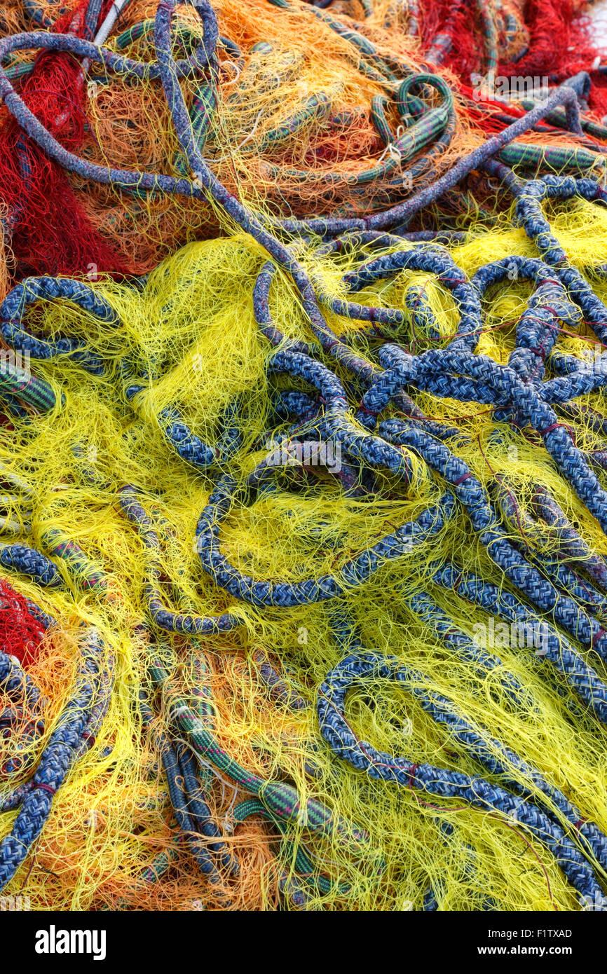 Filet de pêche colorés close up Photo Stock