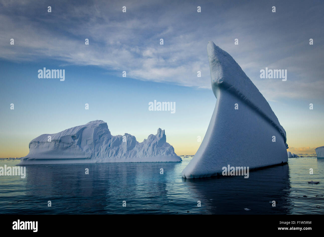 Un gros iceberg en Antarctique Photo Stock