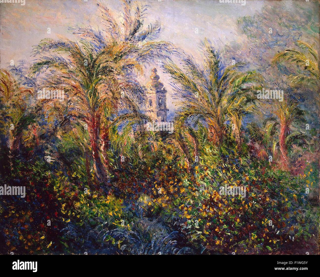 Claude Monet - jardin à Bordighera, Impression de matin Photo Stock