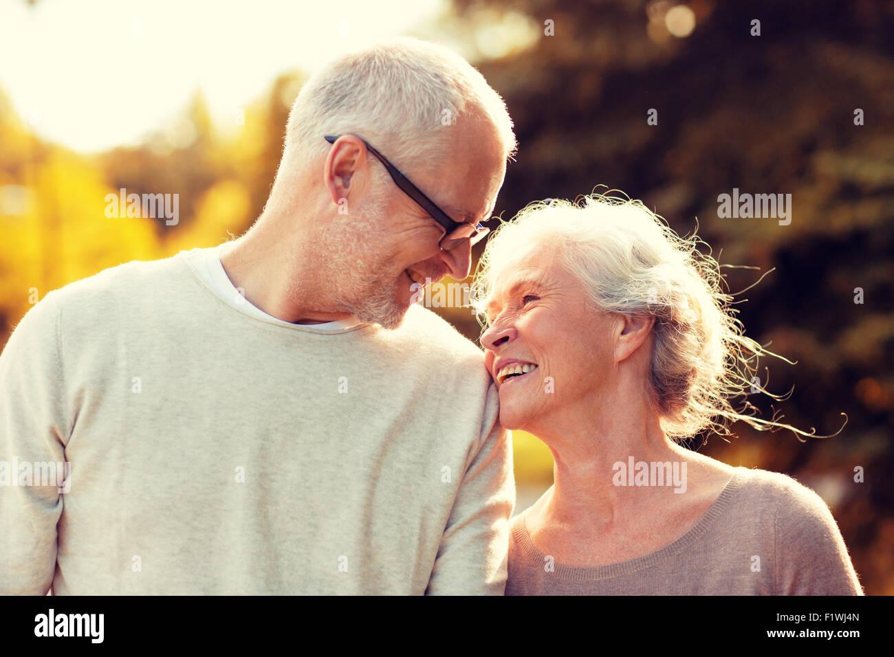 Senior couple in park Photo Stock