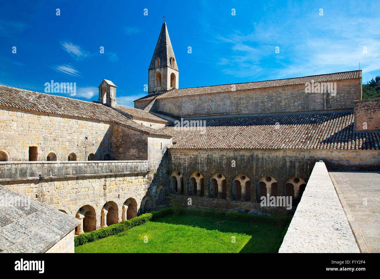 La France, Var, l'abbaye cistercienne du Thoronet Photo Stock