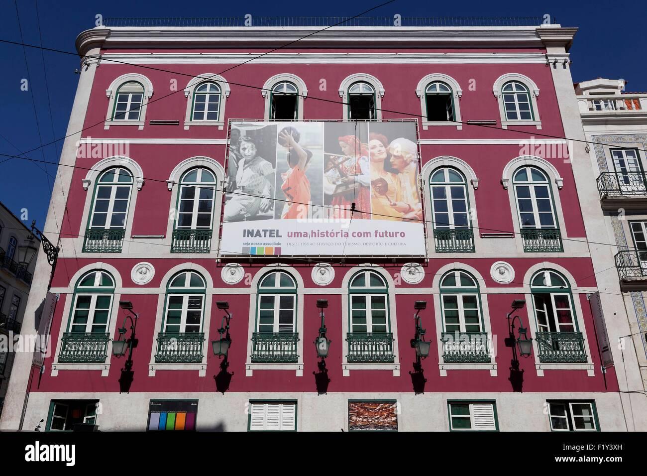 Portugal, Lisbonne, le Bairro Alto, la façade de l'immeuble Photo Stock