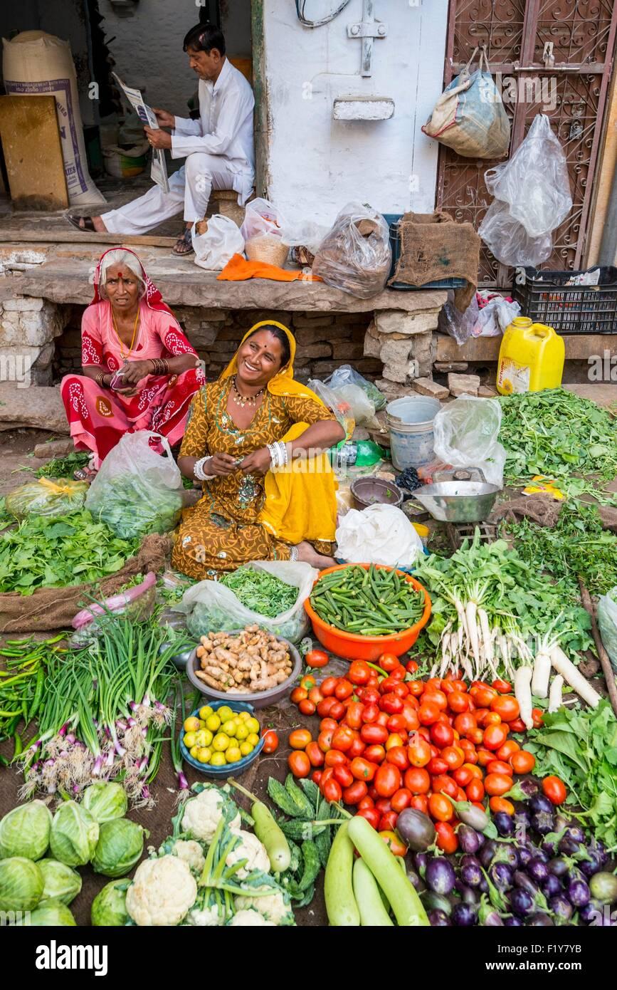L'Inde, Rajasthan, Jaisalmer, street market Photo Stock