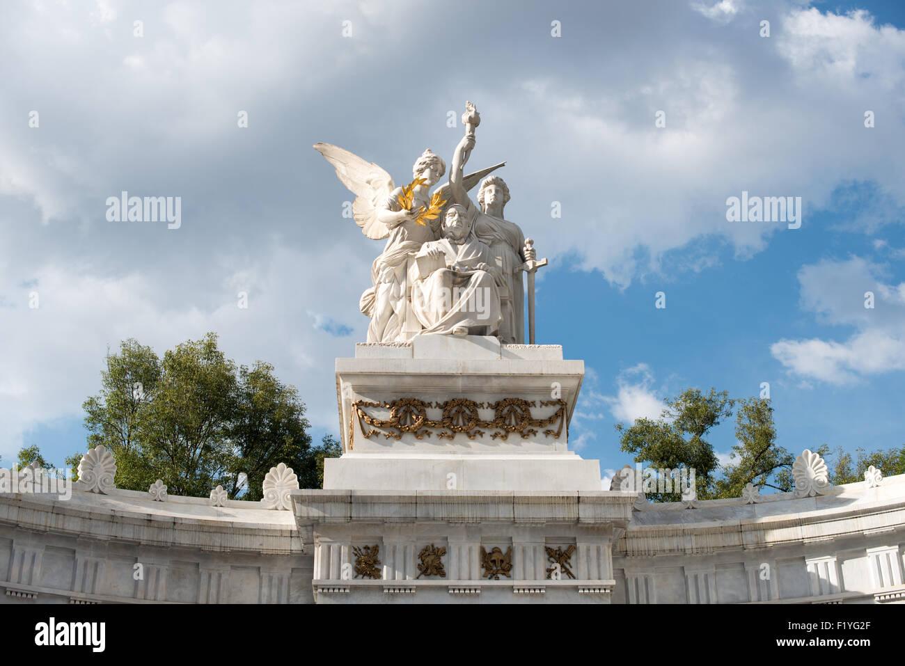 La ville de mexico mexique un monument à l ancien président