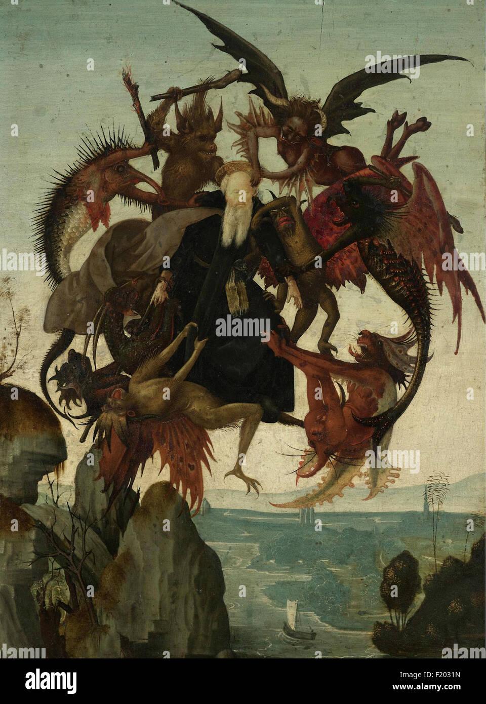 Domenico Ghirlandaio - La Tentation de Saint Antoine Photo Stock