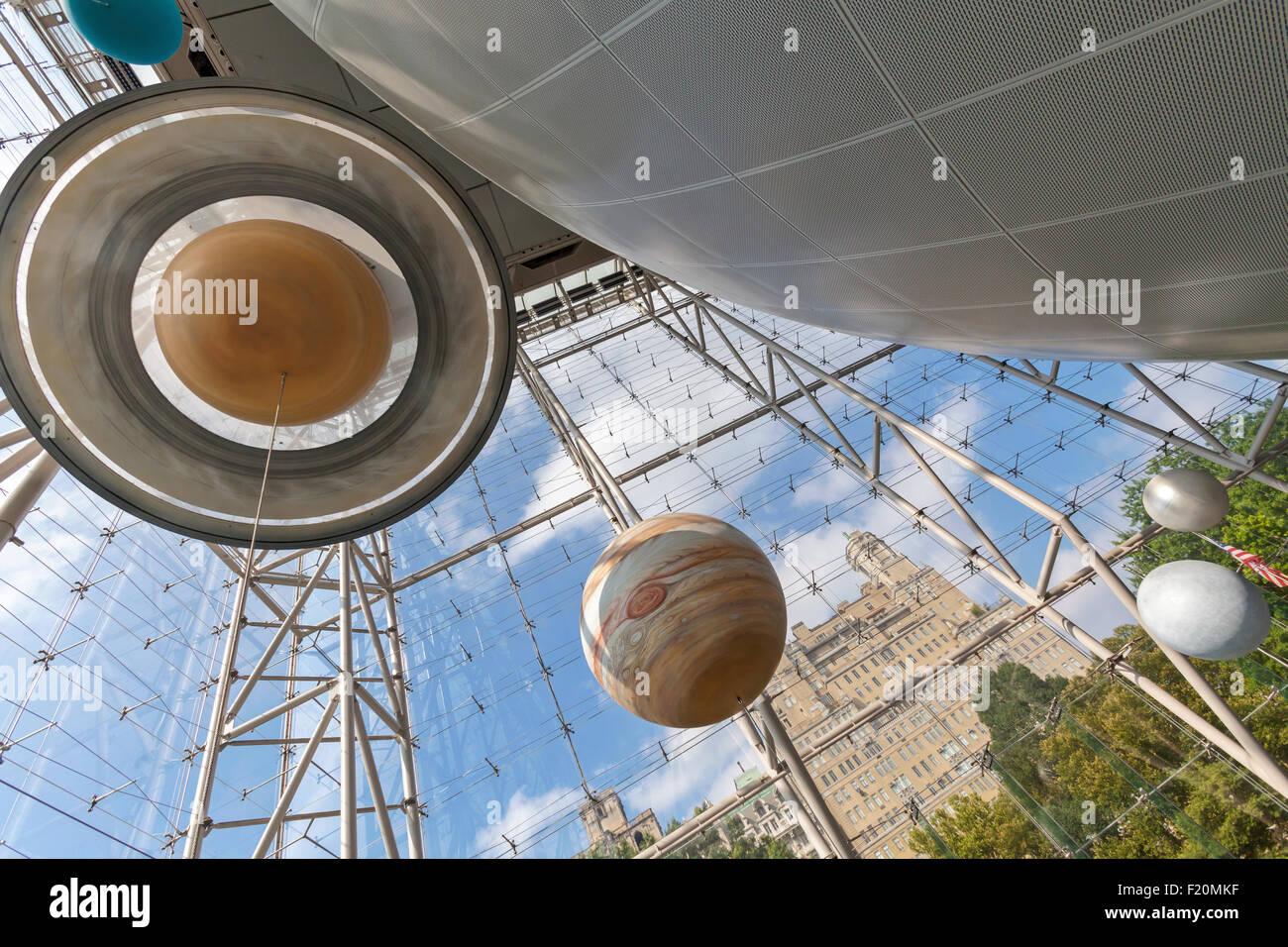 Le Planétarium Hayden dans le musée d'Histoire Naturelle, Manhattan, New York. Photo Stock