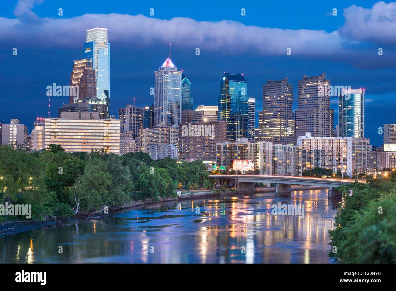 United States, Pennsylvania, Philadelphia, cityskape Photo Stock
