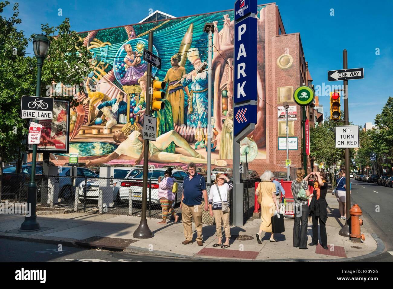 United States, Pennsylvania, Philadelphia, Mural Arts Photo Stock