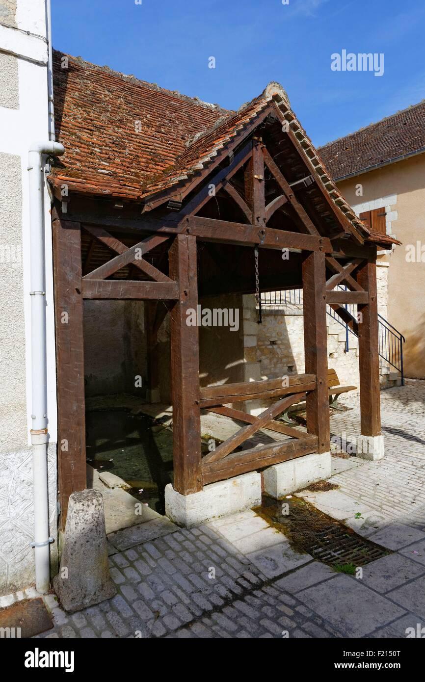 France, Vienne, Saint Remy sur Creuse, laver Photo Stock
