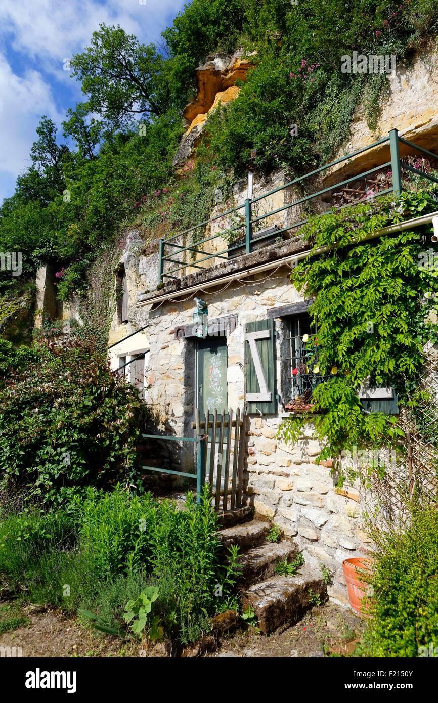 France, Vienne, Saint Remy sur Creuse, village troglodytique Photo Stock