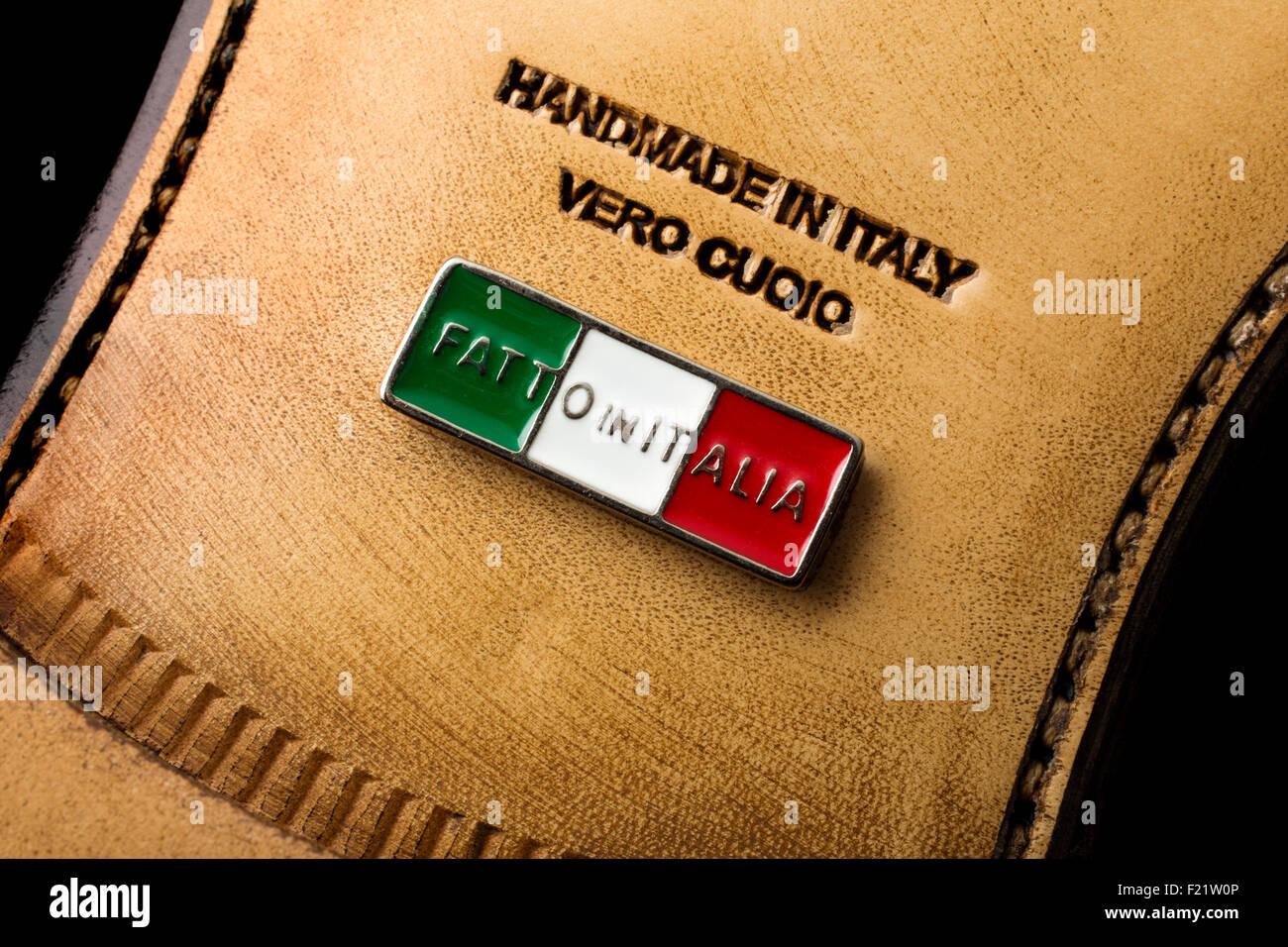 L'artisanat fait main chaussures italiennes Photo Stock