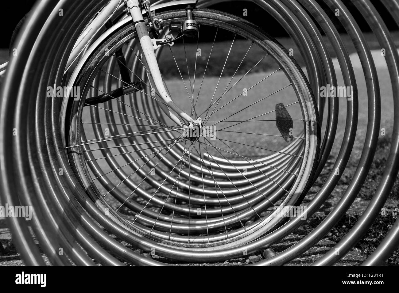 Perspective porte-vélo Photo Stock