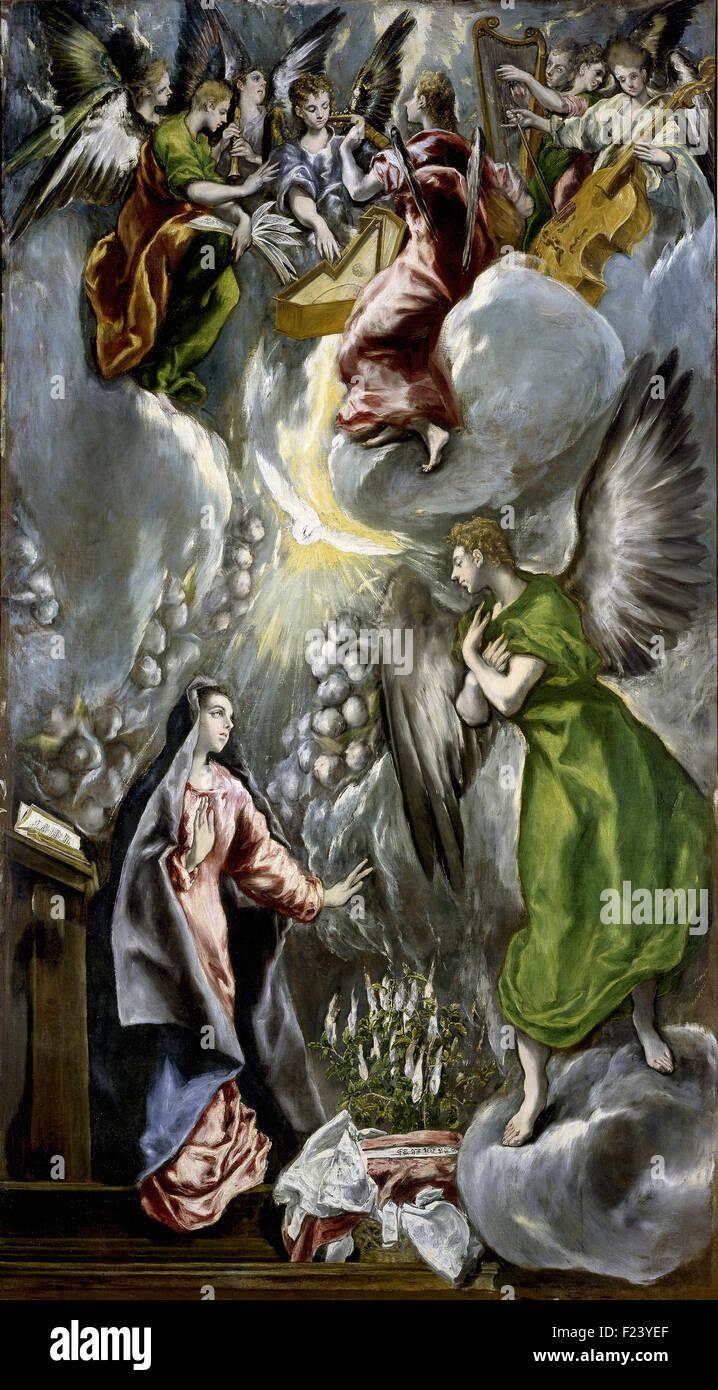 El Greco - l'Annonciation 15 Photo Stock