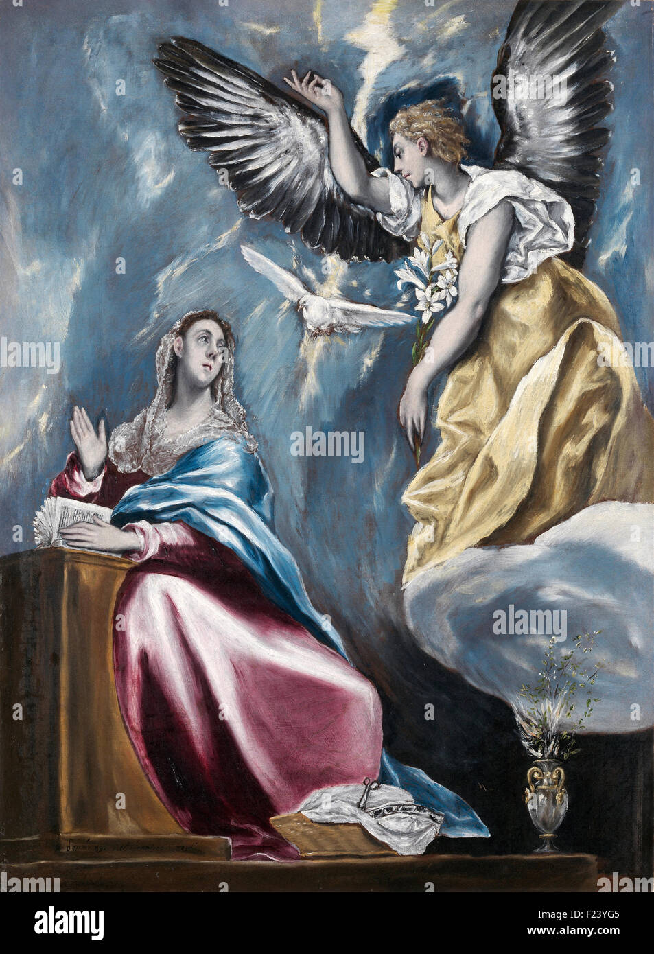 El Greco - l'Annonciation 14 Photo Stock